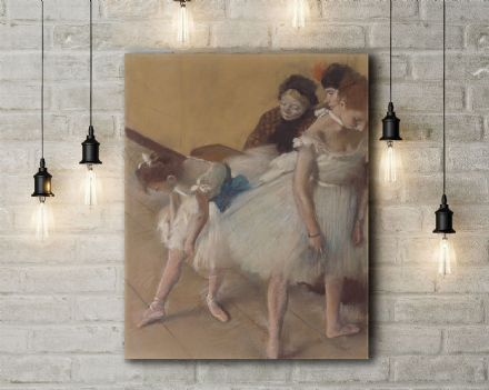 Edgar Degas: Dance Examination. Fine Art Canvas.